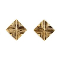 Etched Pyramid Stud Earrings: Charlotte Russe