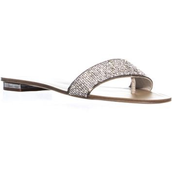 Aldo Soffia Slip On Block Heel Sandals, Silver, 7.5 US / 38 EU
