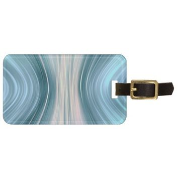 Aqua Turquoise Teal Driving Dreams Luggage Tag