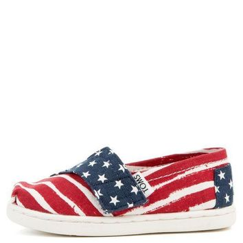 Tiny Toms Classics Americana Red White And Blue Flats