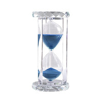 30 Minutes Hourglass, SZAT Sand Timer Romantic Crystal Sandy Clock with Blue Sands for Mantel Office Desk Coffee Table Book Shelf Curio Cabinet Christmas Birthday Present Gift Box Package