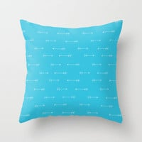 Azul Throw Pillow by Leah Flores Designs