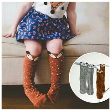 Fox Socks - RWL Kids - Kids Leg Warmers - Baby Leggings - Ruffles with Love - RWL