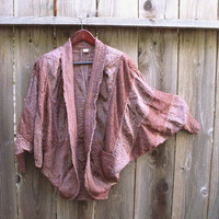 Vintage French Bohemian Patchwork Cocoon Silk / Lace by KheGreen