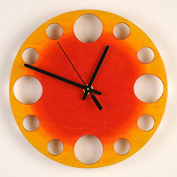 POP Clock: Sunburst Modern Wall Clock 10""