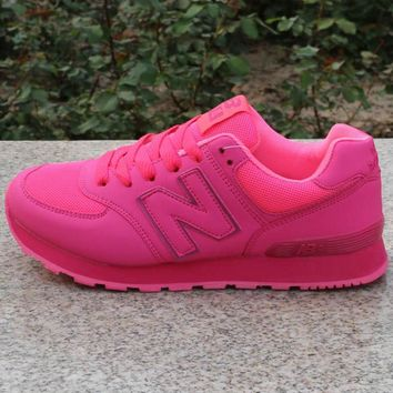Women Men Casual Running NEW BALANCE Sport Shoes Sneakers Pink
