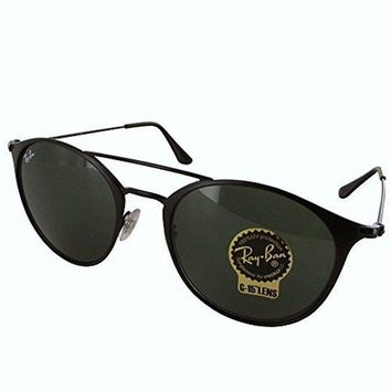 LMFON Tagre? Cheap Ray-Ban Steel Unisex Round Sunglasses, Black Top Matte Black, 52 mm outlet