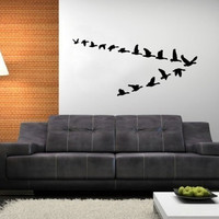 Wall Decal Geese in Flight Vinyl Wall Decal 22227