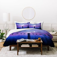 Viviana Gonzalez Symphony In Purple Duvet Cover
