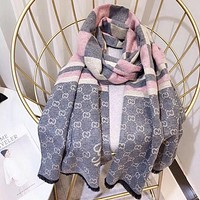 Perfect Gucci Women Wool Scarf Shawl Silk Scarf