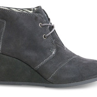 Castlerock Grey Suede Women's Desert Wedge Booties