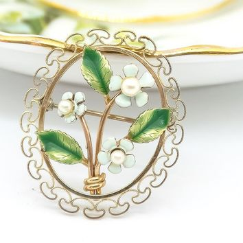 Vintage Brooch - Vintage Kermentz Brooch - Forget Me Not Brooch - 1960's Jewelry - Gift For Her - Mom Gift - Wife Gift - Holiday Gift