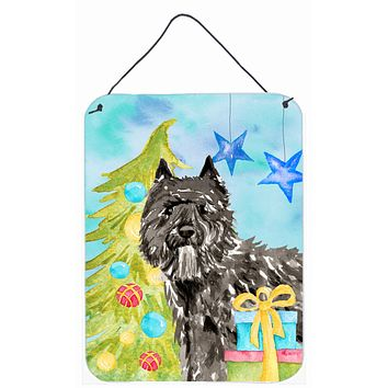 Christmas Tree Bouvier des Flandres Wall or Door Hanging Prints CK1885DS1216