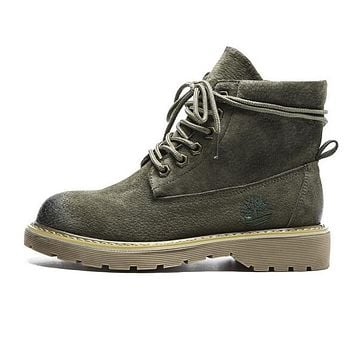 Timberland Autumn Winter New Popular Women Casual Boots Shoes Waterproof Martin Boots Army Green I12999-1