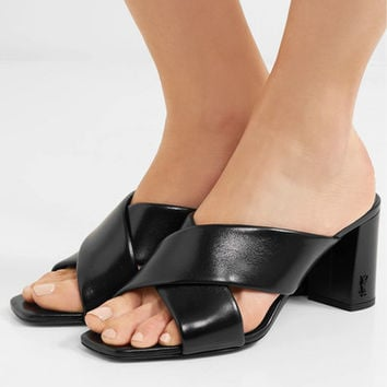 Saint Laurent - Loulou leather mules