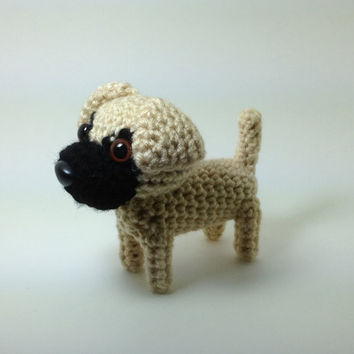 Mastiff Stuffed Animal Amigurumi Dog Crochet Dog Doll / Made to Order