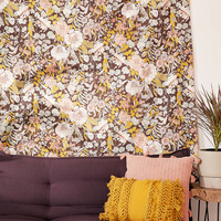 Mila Stone-Washed Floral Tapestry | Urban Outfitters