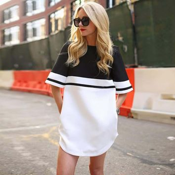 Black and White Shirt Dress