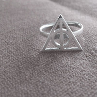 Silver Deathly Hallows Ring, Harry Potter - Voldemort's Horcrux