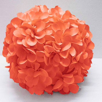 coral flower pillow round pouf circular pillow fibre pillow nursery decor baby pillow sofa pillow bedroom decor wedding home decor gift