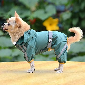 Puppy Pet Dog Cool Raincoat Glisten Bar Hoody Waterproof Rain Lovely Jackets Coat Apparel Clothes