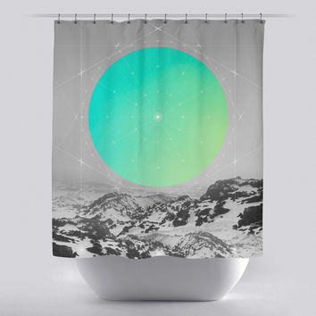 Unique Shower Curtain - Middle of Nowhere Landscape 1 by Soaring Anchor Designs