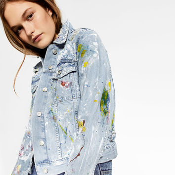 PAINTED DENIM JACKET - NEW IN-TRF | ZARA United States