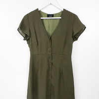 Tea Olive Button Up Dress