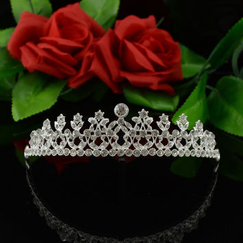 Accessory Korean Rhinestone Headwear Crown Wedding Dress Prom Dress [6258302150]