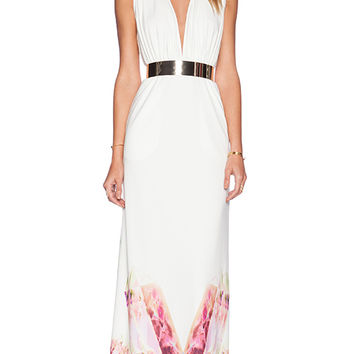 AQ/AQ Snap Maxi Dress in White