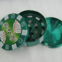3 Parts Aluminium Poker Chip Polinator Herb Grinder (colors may vary)