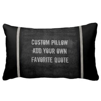 add your own quote pillow for custom decor in gray