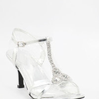 Wedding Shoes, Silver Heels, Silver Bridal Sandals, silvershoe-800-43
