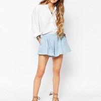 Glamorous | Glamorous Chambray Denim Shorts at ASOS