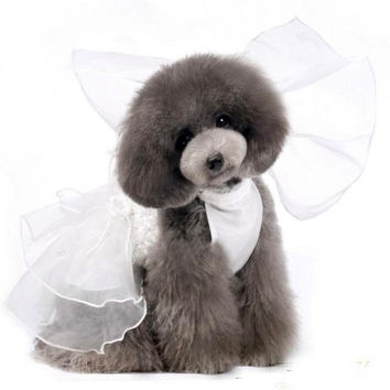 Online Pet Store Clothing Cute Dog Fashion Wedding Dress Costume-Size M