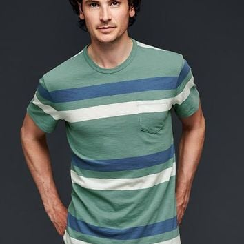 Gap Men Lived In Stripe Pocket T Shirt
