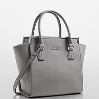 saffiano leather structured satchel | Calvin Klein