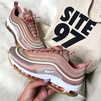 NIKE Women AIR MAX 97 UL'17 Rose Gold Bullets Women's Air-cushioned Running Shoes