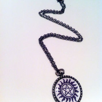 Supernatural Demon Protection Necklace by LoveForAchilles on Etsy