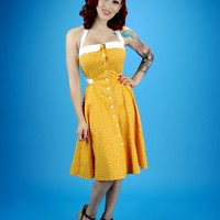 Peggy Sue Sundress in Mustard | Pinup Girl Clothing