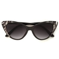 Catcalls Grey Zebra Cat-Eye Sunglasses