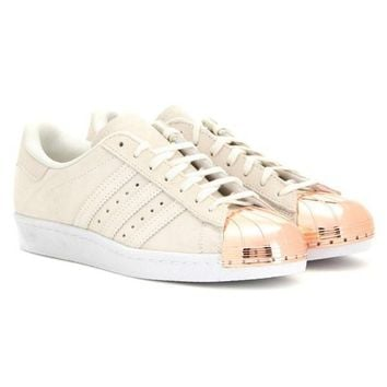 rose gold shell toe adidas