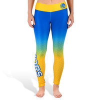 Golden State Warriors Womens Official NBA Gradient Print Leggings