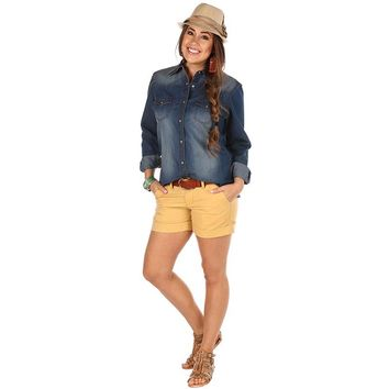 Women's Wrangler Denim Snap Shirt
