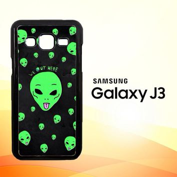 Alien We Out Here X4148  Samsung Galaxy J3 Edition 2015 SM-J300 Case