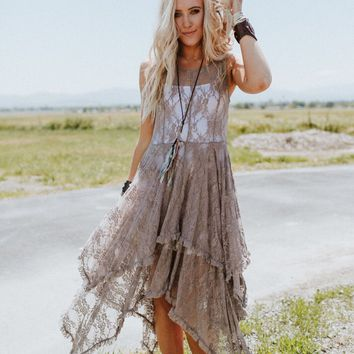 Tenerife Sea Lace Midi Dress