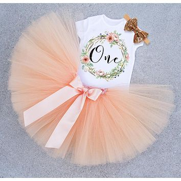 Newborn Infant Baby Girls Clothes Dress Toddler Girl 1 Year First Birthday Outfits Yellow Tutu Kid Party Dresses