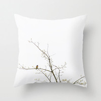 Decorative Photo Throw Pillow Cover Barn Swallow Minimalist Nature  Home Decor Pillow 18x18 Gift for Him Gift for Her  White Rust Royal Blue