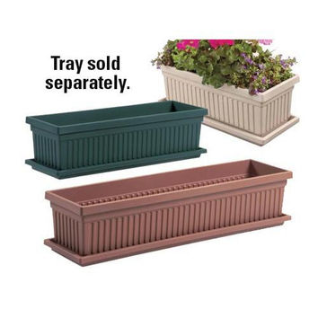 "Garden Accents: 24"" Green Venetian Flower Box"