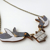 Swallows Are So Cliché! Penguin Tattoo Inspired Rockabilly Necklace